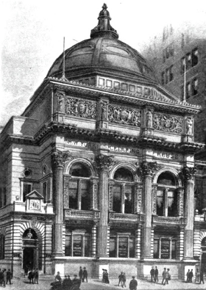 A drawing of the New York Clearing House, 1913.
