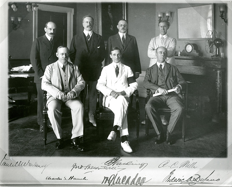 The seven members of the first Federal Reserve Board