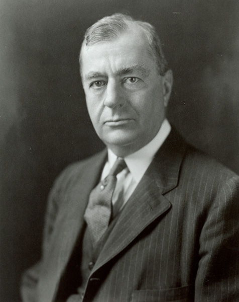 Headshot of Benjamin Strong, the first governor of the Federal Reserve Bank of New York