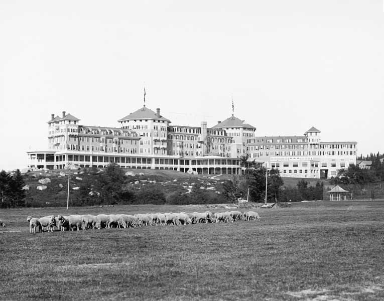 The Mount Washington hotel in rural New Hampshire, meeting place of the Allied nations for the Bretton Woods Conference